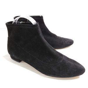 Sudini Aletta Black Suede Ankle Bootie 7M --B18